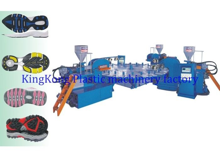 Rotary Auto Plastic PVC Sole Making Machine For Multicolor Sport Shoe